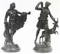 the apollo belvedere & diana the huntress] by franz jacob sauvage